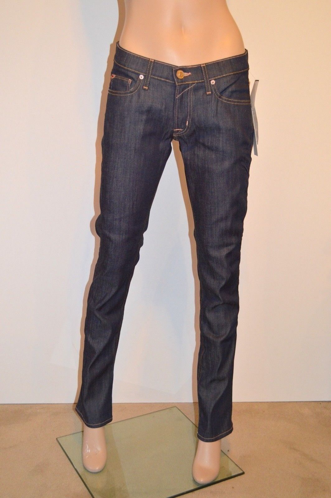 New  Hudson Crop Muse Crop Skinny Jeans w  5  Cuff Dark Denim sz 24