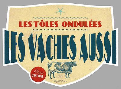 Humour Vache Lait Drole Gag Fun Autocollant Sticker 10cmx7,5cm Va070 Clear-Cut Texture Badges, Insignes, Mascottes