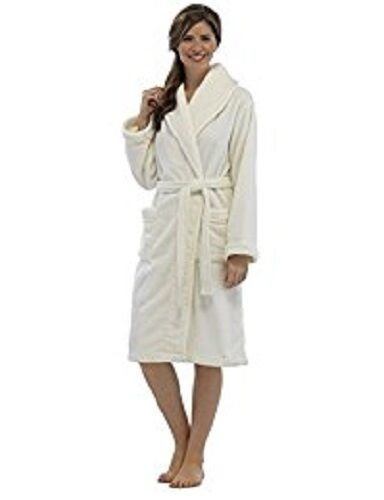 Ladies Womens Girls Dressing Gown Supersoft Coral Fleece Robe Colour ...