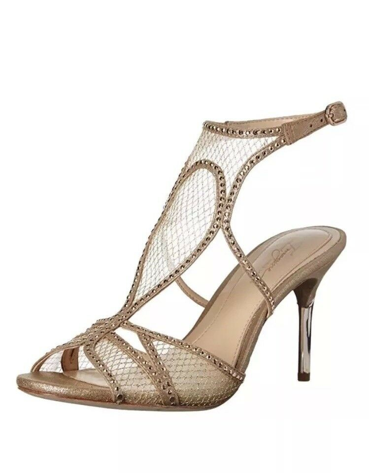 150 Größe 8.5 Imagine VINCE CAMUTO Pember Gold Strappy Slingback Heels  NEU