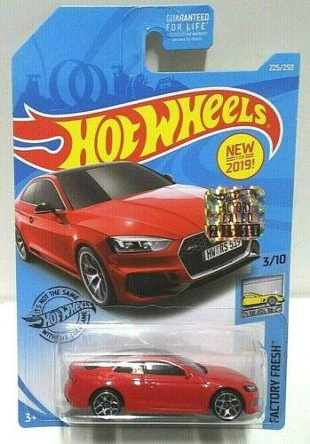 2019 Hot Wheels Factory Fresh Audi RS 5 Coupe Red 225 RLC Set VHTF