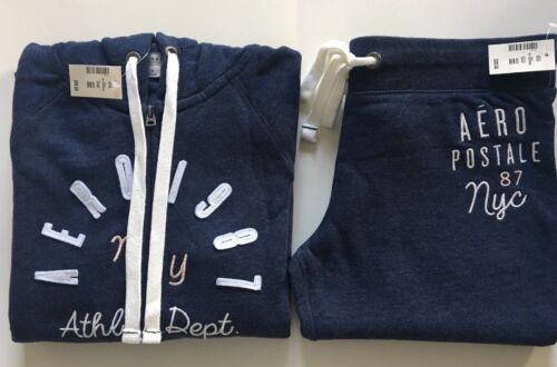 Aeropostale Aero Womens Blue Hoodie /&Sweat Pants Matching Set Jogger S M L XL 2X