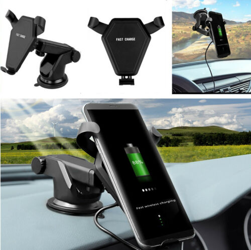 Car Rotatable Fast Wireless Phone Charger Air Vent Charging Holder Mount Stand