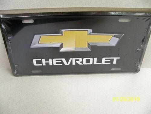 metal car or truck license plate #5 Chevy bow tie Original Genuine Chevrolet