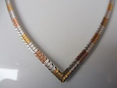 Aktiv Edle, Alte Kette___halskette, Kollier__925 Silber Teilvergoldet __ ! 100% Hochwertige Materialien