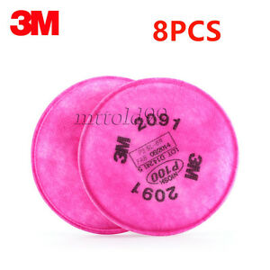 8Pcs 4Packs 3M 2091 Particulate Filter P100 For 6000, 7000 Series ... c99df30995