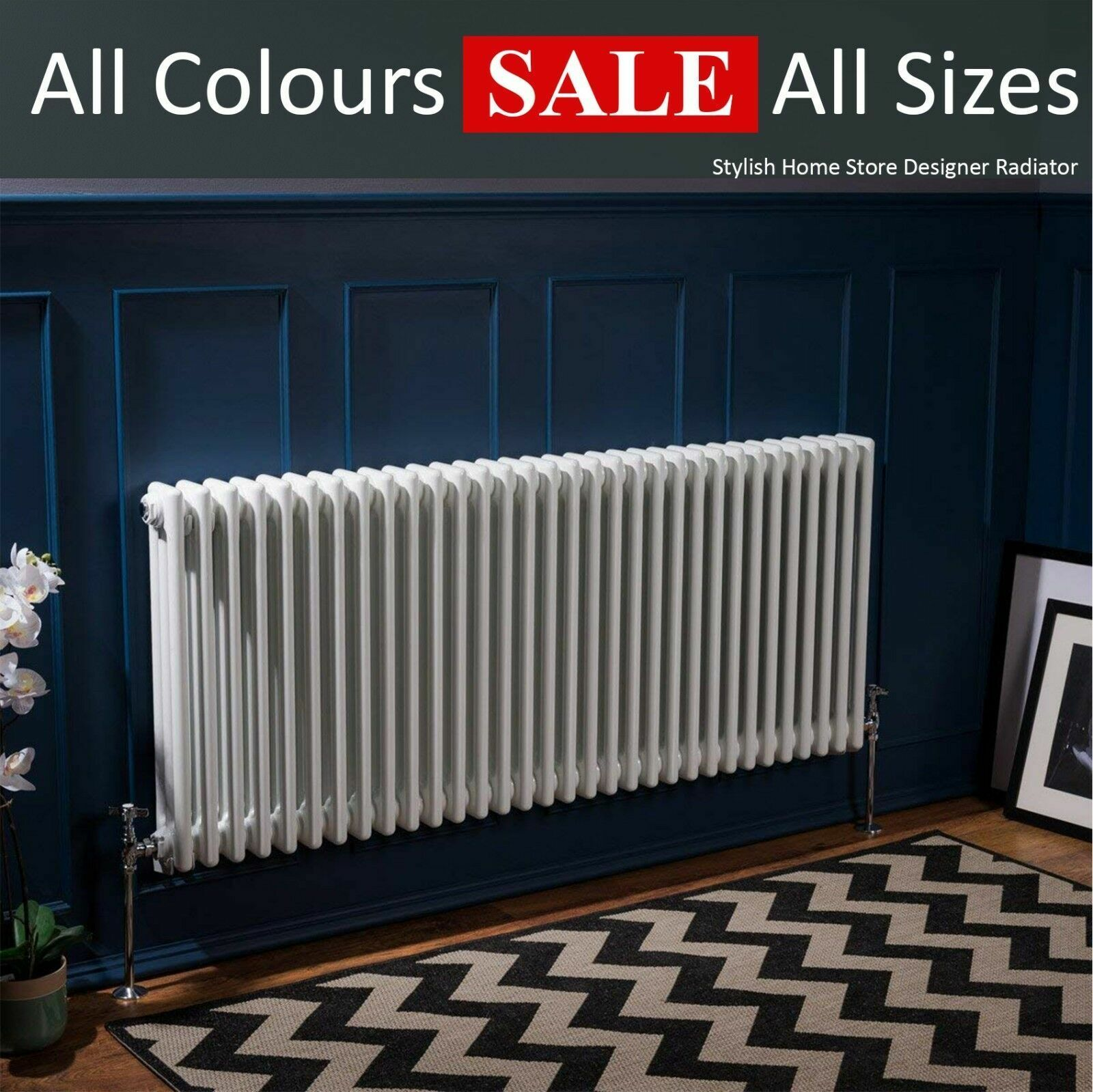 Horizontal Vertical traditionnel Colonne Radiateur Fonte Styl Blanc Anthracite