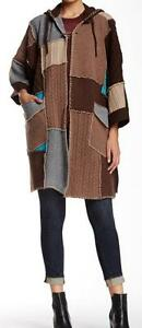 New-with-Tag-660-L-A-M-B-Gwen-Stefani-Patchwork-Wool-Cashmere-Poncho-XS-S