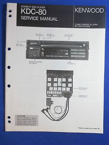 kenwood kdc 80 cd player car audio service manual original factory rh ebay co uk How Many Pins in a Kenwood Head Unit How Many Pins in a Kenwood Head Unit