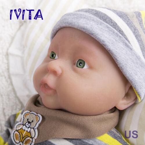 41cm IVITA 16/'/' Full Body Silicone Reborn Baby BOY Realistic Doll Cute Toy