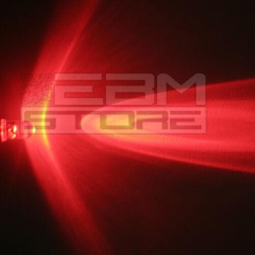 100 pz led rossi 3 mm alta luminosità 5.000 mcd ART AL06