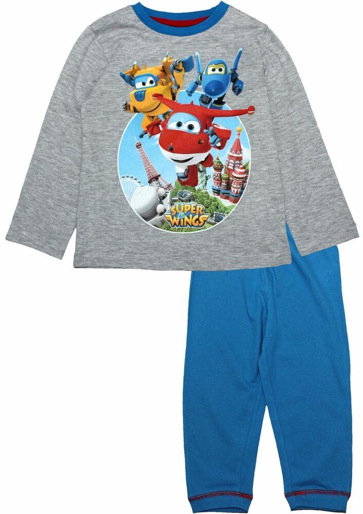 Intelligente Super Ailes Garçons Enfants Exploe Notre Monde à Manches Longues Pyjamas Set Dessins Attrayants;