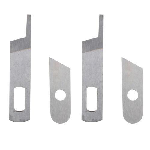 4pcs Overlocker Upper Lower Blade für SINGER Sewing Machine Attachment