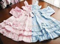 Bodyline Sweet Lolita Double Shirring Jsk Dress Pink Or Blue Child Size 140