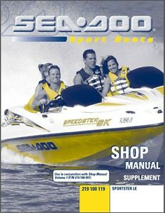 2000 2001 2002 2003 sea doo sportster le jet boat service shop rh ebay com 1996 sea doo sportster manual sea doo speedster 150 manual