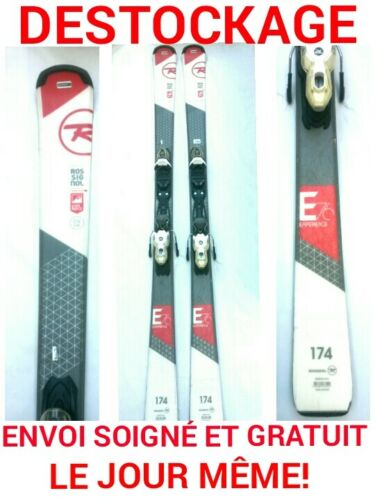 """ski occasion ROSSIGNOL /""""EXPERIENCE 76/"""" taille:174cm fixations"""