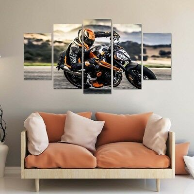 framed ktm 790 duke bike motorcycle 5 piece canvas print