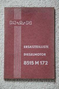 ETL MAN D8515 M 172 Dieselmotor Ersatzteilliste Ersatzteilkatalog