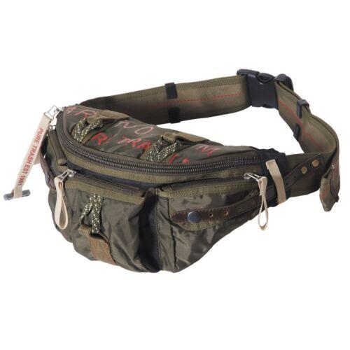 VINTAGE HIP BAG WAISTBAG OLIV Hüfttasche Bauchtasche Vintagebag Gürteltasche