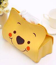1Pc Lovely Cartoon Winnie the Pooh Car Seat Style Tissue Box Car Accessories