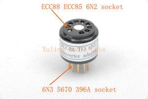 1pc gold plated RCA 6350 instead ECC88 6DJ8 6922  tube converter adapter