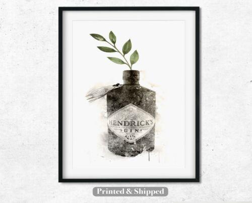 Botanical Gin Print Set of 2 Gin Quote Kitchen Art Hendricks Gin Wall Art Gift