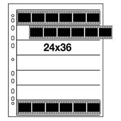 Negativo hojas archivador acetato//acetato KB-película 24x36mm 100 BL. 7 rayas