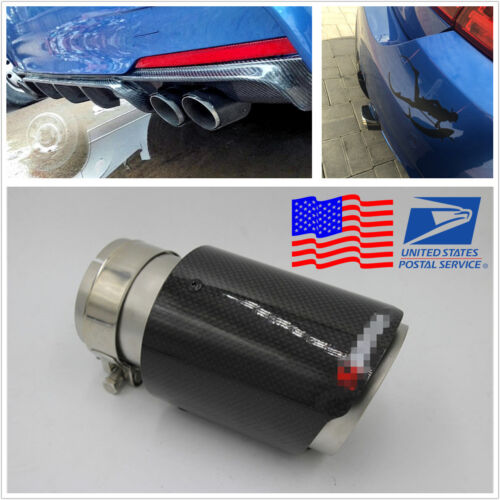 DIY Glossy 63mm Inlet Car Auto Exhaust Muffler Silencer End Pipe Tip Tail Throat