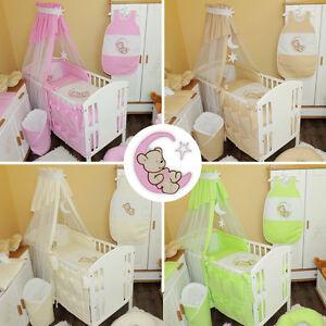 baby bettw sche himmel nestchen bettset mit applikation. Black Bedroom Furniture Sets. Home Design Ideas