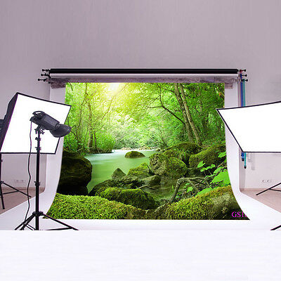 7x5FT Forest River Photo Background Vinyl Studio Backdrop Photography Prop GS10