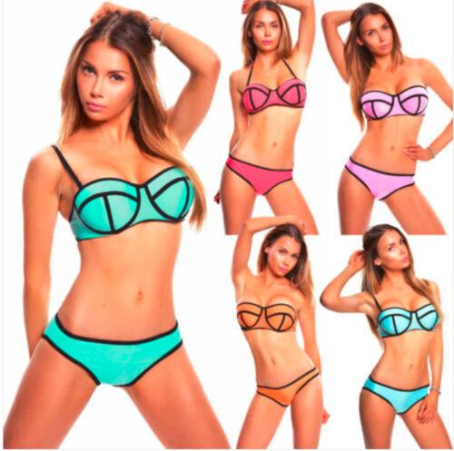 Bikini Damen Basketball Neopren Tauchanzug Neoprene Badeanzug Bademode Push-Up