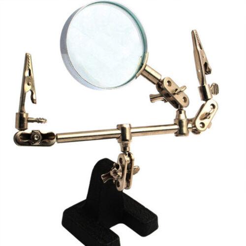 Dritte Hand Standfuß mit Lupe Löthilfe passend Lötstation Löten Lupenset Lupe