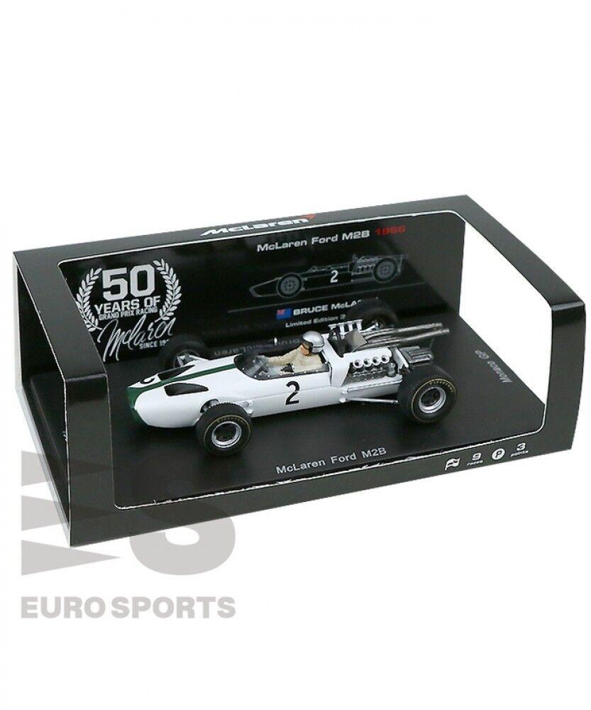 Nouveau Spark 50th 1 43 McLaren Ford M2B Bruce McLaren 1966 Grand Prix de Monaco Limited Japan