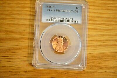 1988-S Proof Lincoln Cent Penny PCGS PR69RD DCAM FREE SHIPPING