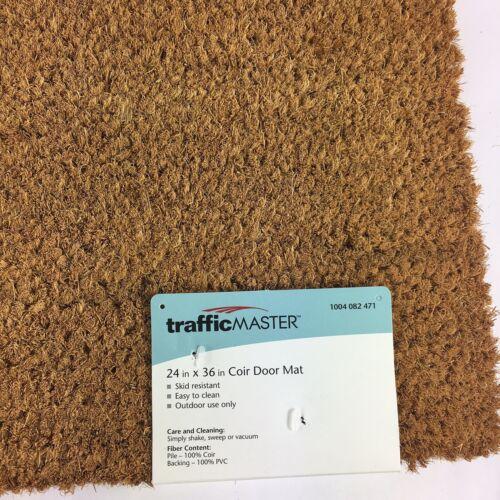 "Traficmaster Natural Coir Doormat Door Mat with PVC Backing 24/"" x 36/"" FREE SHIP"
