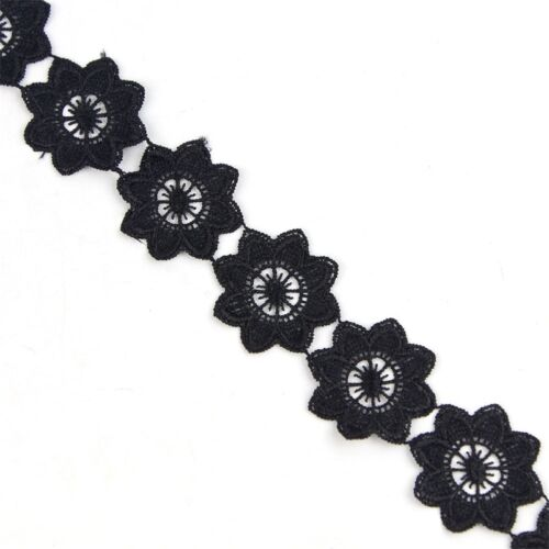 Spitzen NEU 2 Yds Bänder Borten Schwarz Lace Kleidung Polyester Decor Verzierung