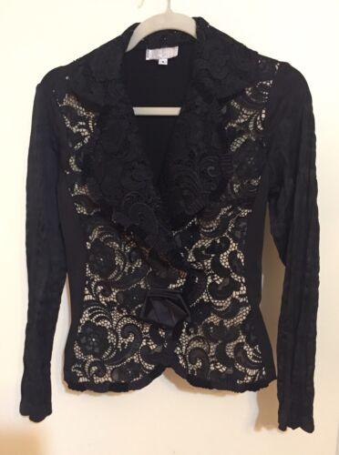Makali en S Taille Artsy Blazer Jacket dentelle maille Black Cream Alberto Funky XO7qdX