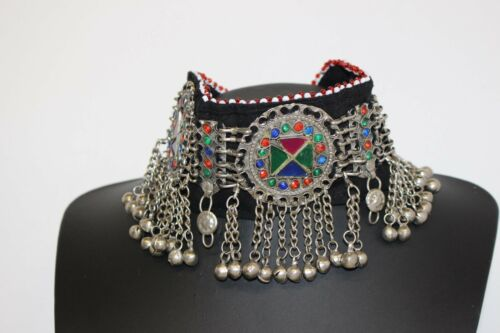 Afghan Chunky Statement Necklace Authentic Ethnic Tradtional Jewellery Choker