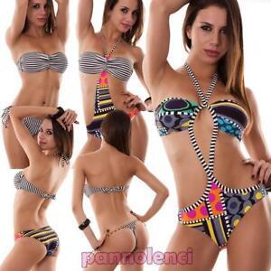 De Dos Tres Piezas Mujer Nuevo Traje Modelos Varios Bikini Rayas Detalles Baño Monokini cJF3l1TK