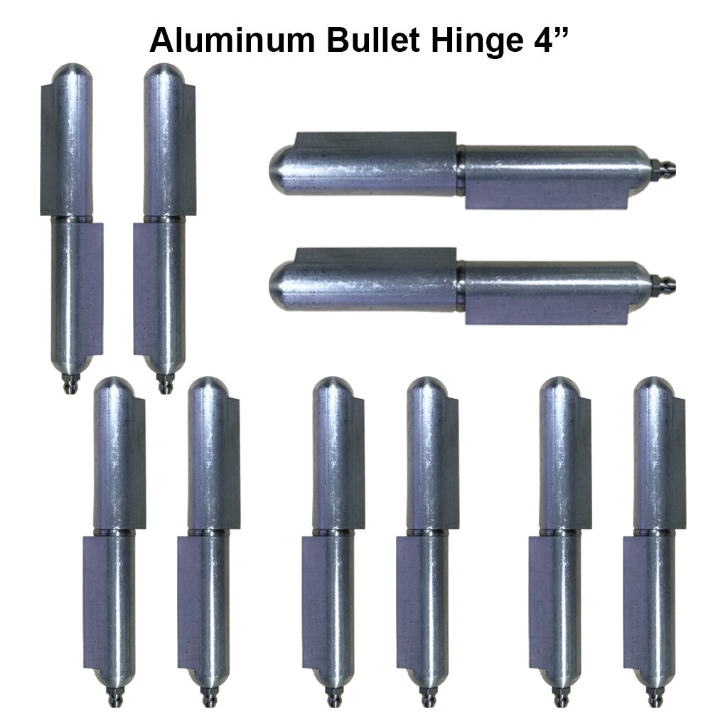 Lot 5 Pair 4  Aluminum Weld Gate Hinge Stainless Steel Pin & Bushing Material