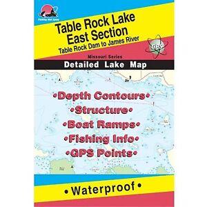 Fishing Hotspots L156 Missouri Lake Maps Table Rock Lake West