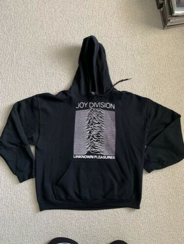 JOY DIVISION UNKNOWN PLEASURES BLACK HOODED SWEATS