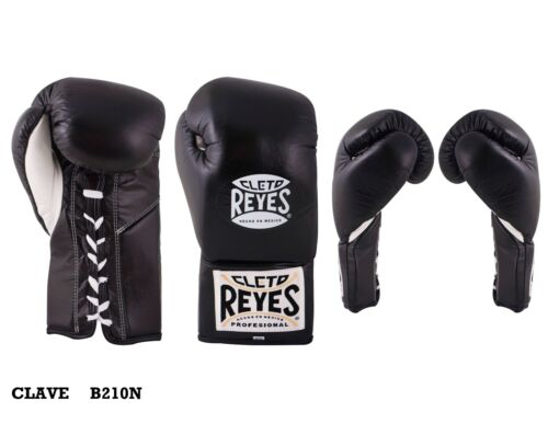 Authentic Cleto Reyes black leather traditional 10oz contest gloves