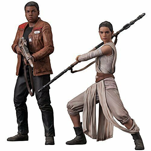 Kotobukiya SW121 ARTFX+ STAR WARS Rey & Finn Set of 2 1 10 scale Figure Japan