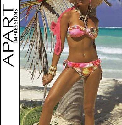 Edles Triangel-Bikini Set Gr 36-40 Cup B in Farben Rot und Schwarz