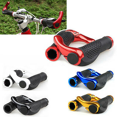 Bike Bicycle Cycling Rubber Handlebar Grips Ends Double Lock-on Bar Ends CL