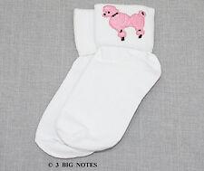 GIRLS 50s Poodle Skirt/ Sock Hop Acc. Lot -  Socks, Glasses, Scarf _ PINK