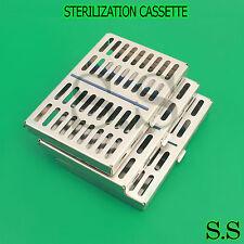 10 Dental Autoclave Sterilization Cassette Rack Box Tray For 10 Instrument 5 X 7