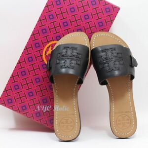 New-Tory-Burch-Melinda-Slide-Leather-Black-7-5