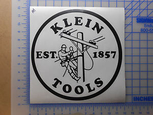 Image Is Loading Klein Tools Logo Decal Sticker Electrician Journeyman 12